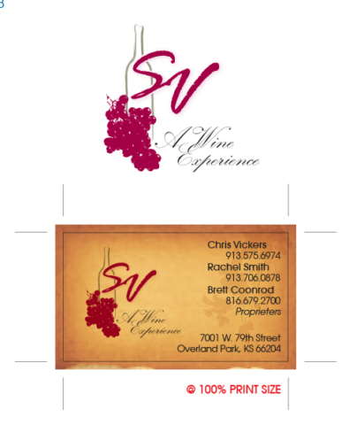 Logo Design Pack with Business Card Design for SV Wine