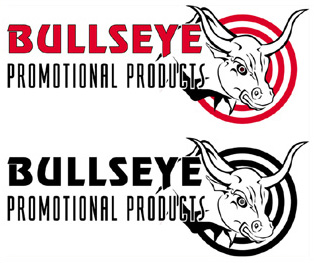 Logo Design and Illustration for Bullseye Promotional Products