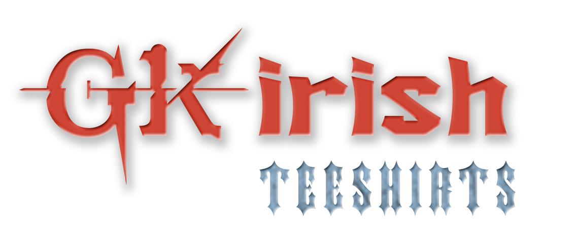 GK Irish Teeshirts Logo, Website Design, Apparel Design